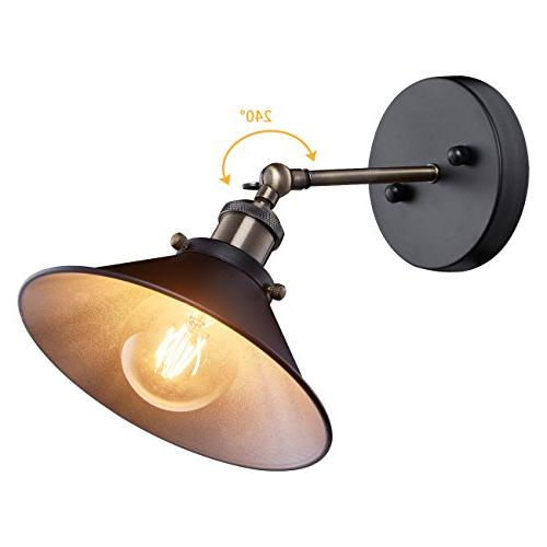 industrial wall sconce metal shade