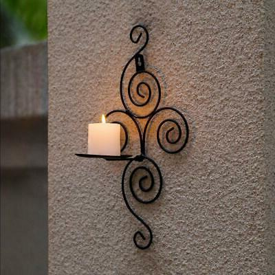 Iron Scroll Candle Holder Candlestick Wall Hanging Home Wedding