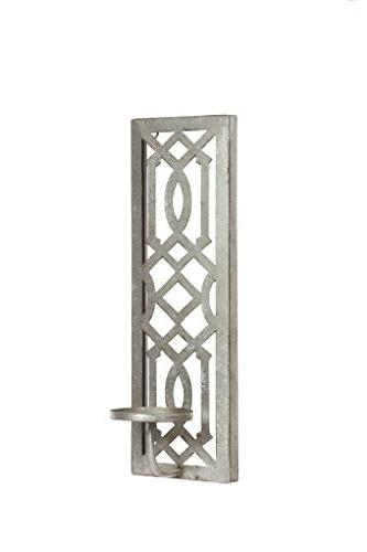 Hosley Iron Wall Candle Antique Galvanized Ideal Special Occasions, and in Home, Spa, Gardens O3