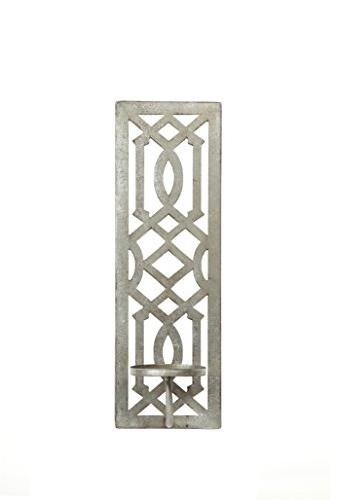 Hosley Wall Pillar Candle Sconce, Antique Ideal for Special and in Den, Spa, Aromatherapy, Candle Gardens O3