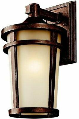 kichler 49072bst atwood aluminum outdoor wall sconce
