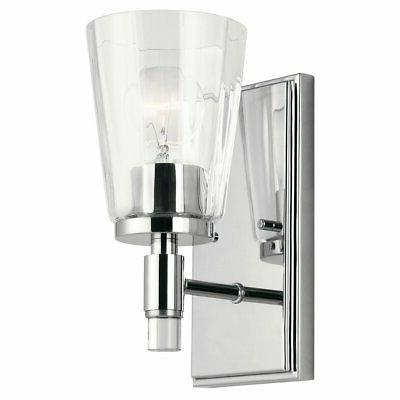 kichler lighting audrea collection 1 light chrome