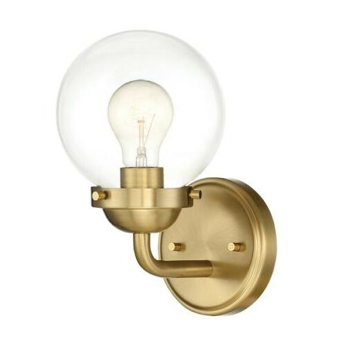 knoll 1 light wall sconce brushed gold