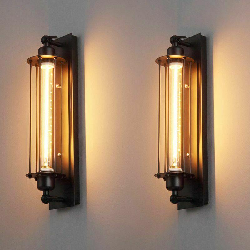 lamps wall sconce vintage led bulb night