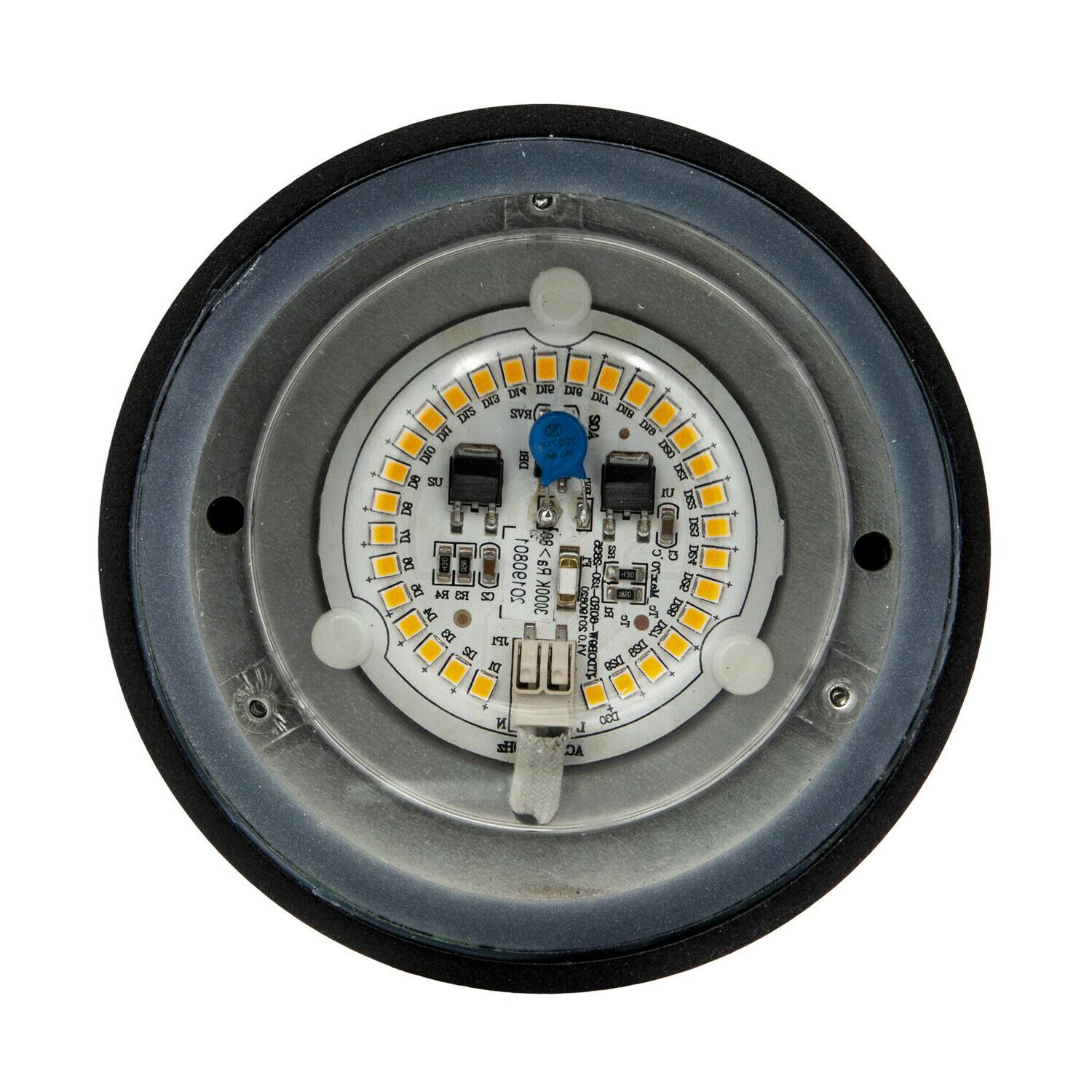 Maxxima LED Cylinder Outdoor Wall Sconce Light 840 Photocell