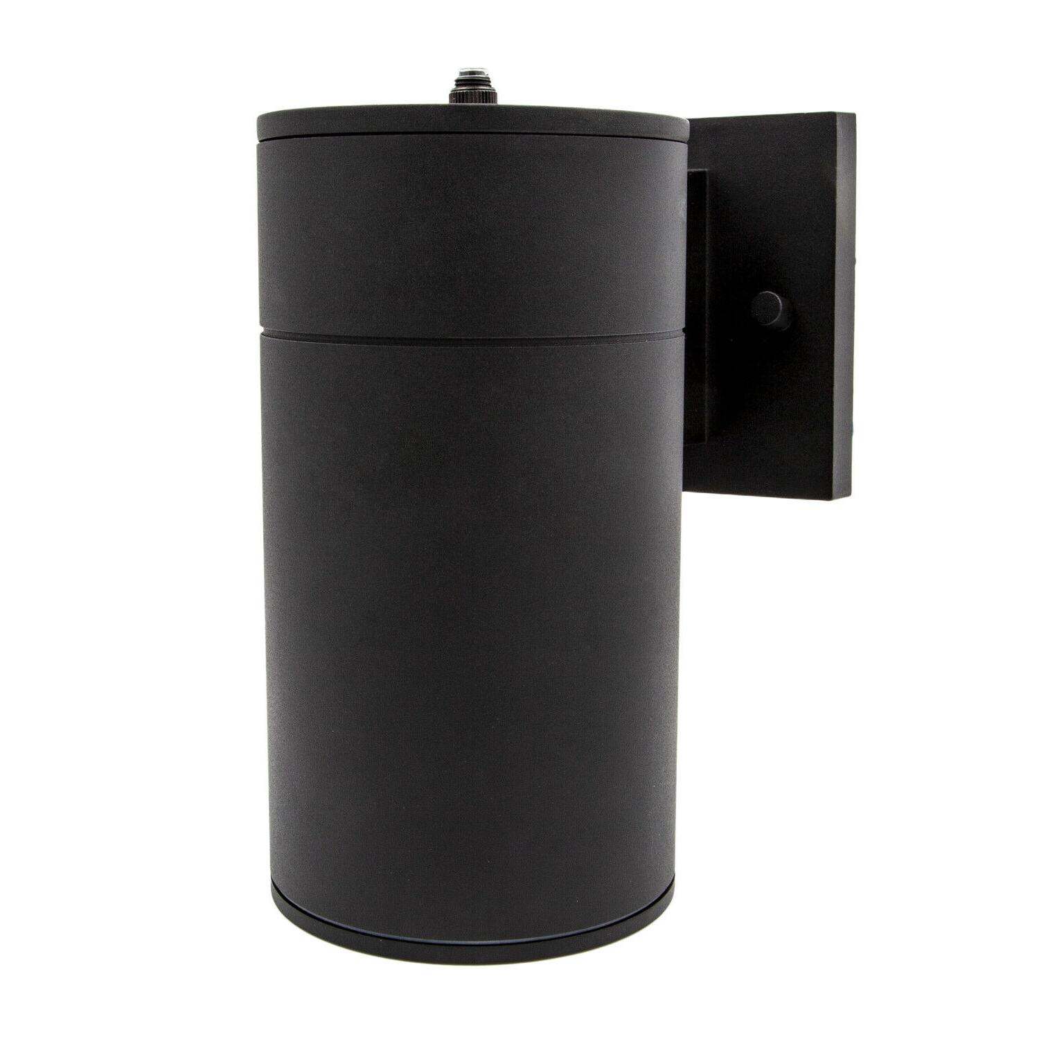led cylinder outdoor wall sconce light 12w
