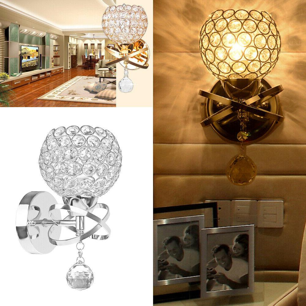 LED Modern Crystal Small Wall Lamp Sconce Bedroom