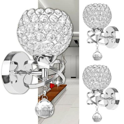 led modern crystal wall lamp sconce light