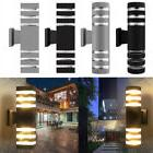 led modern exterior wall light sconce dual