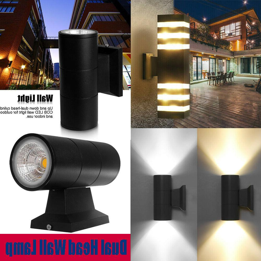 LED Modern Exterior Wall Light Sconce Dual Head Wall Lamp Fi