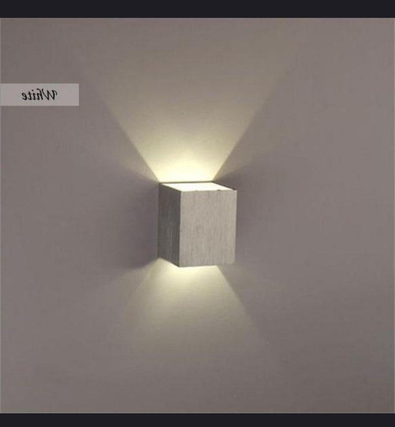 LED Wall Light Up Down Cube Indoor Sconce Lighting Lamp Fixt