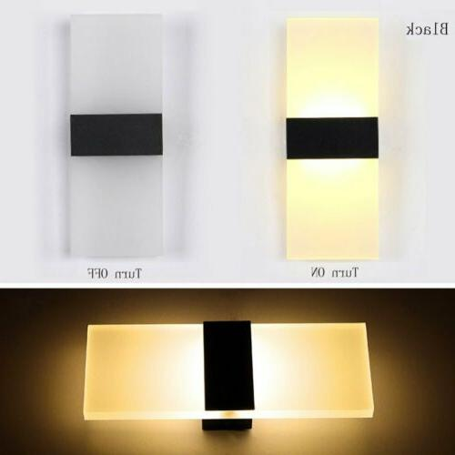 Modern LED Indoor Outdoor Wall Light Up Down Cube Sconce Lam