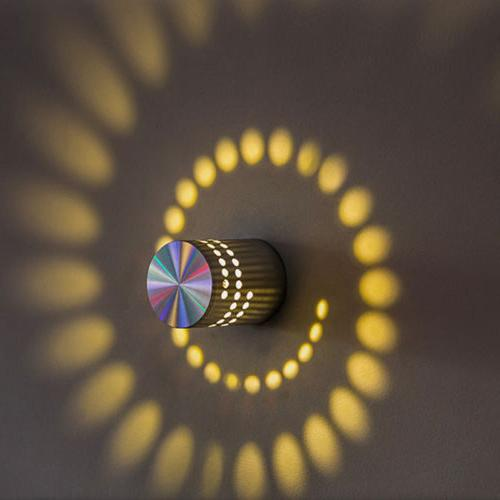 LED Wall Ceiling Light RGB Lamp Spiral Room Outdoor