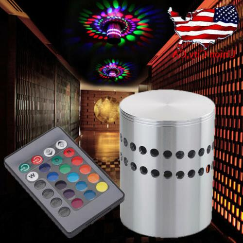 led wall sconce cylinder ceiling light rgb