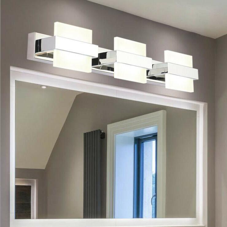 LED Wall Sconce Light Stainless steel Mirror Front Lamp Fixt
