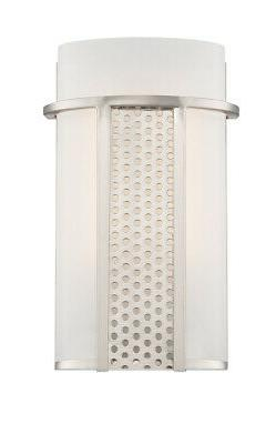 led6051a sp lucern wall sconce satin platinum