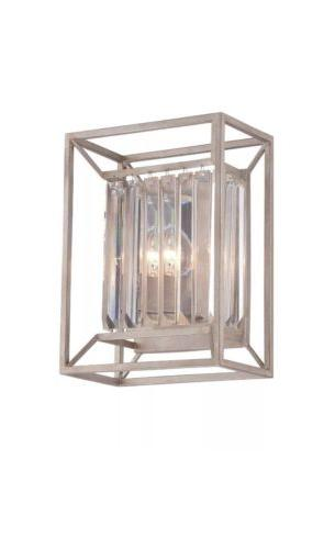linares aged platinum two light wall sconce