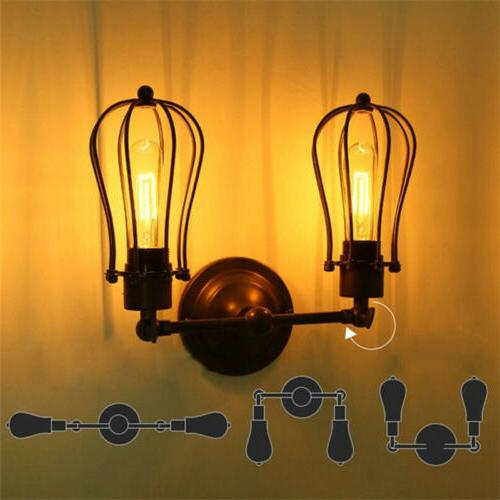 LOFT Metal Cage LED Wall Vintage Industrial Wall Sconce