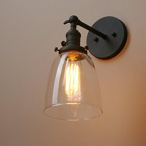 Pathson Fixtures Industrial Vintage Sconce Lamp with and Clear Glass Farmhouse Porch