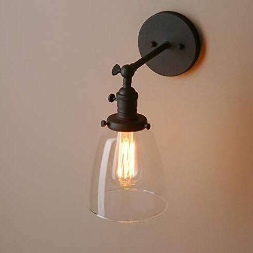 Pathson Indoor Wall Fixtures with with Base Clear Glass Farmhouse Bedroom Garage Porch Cafe