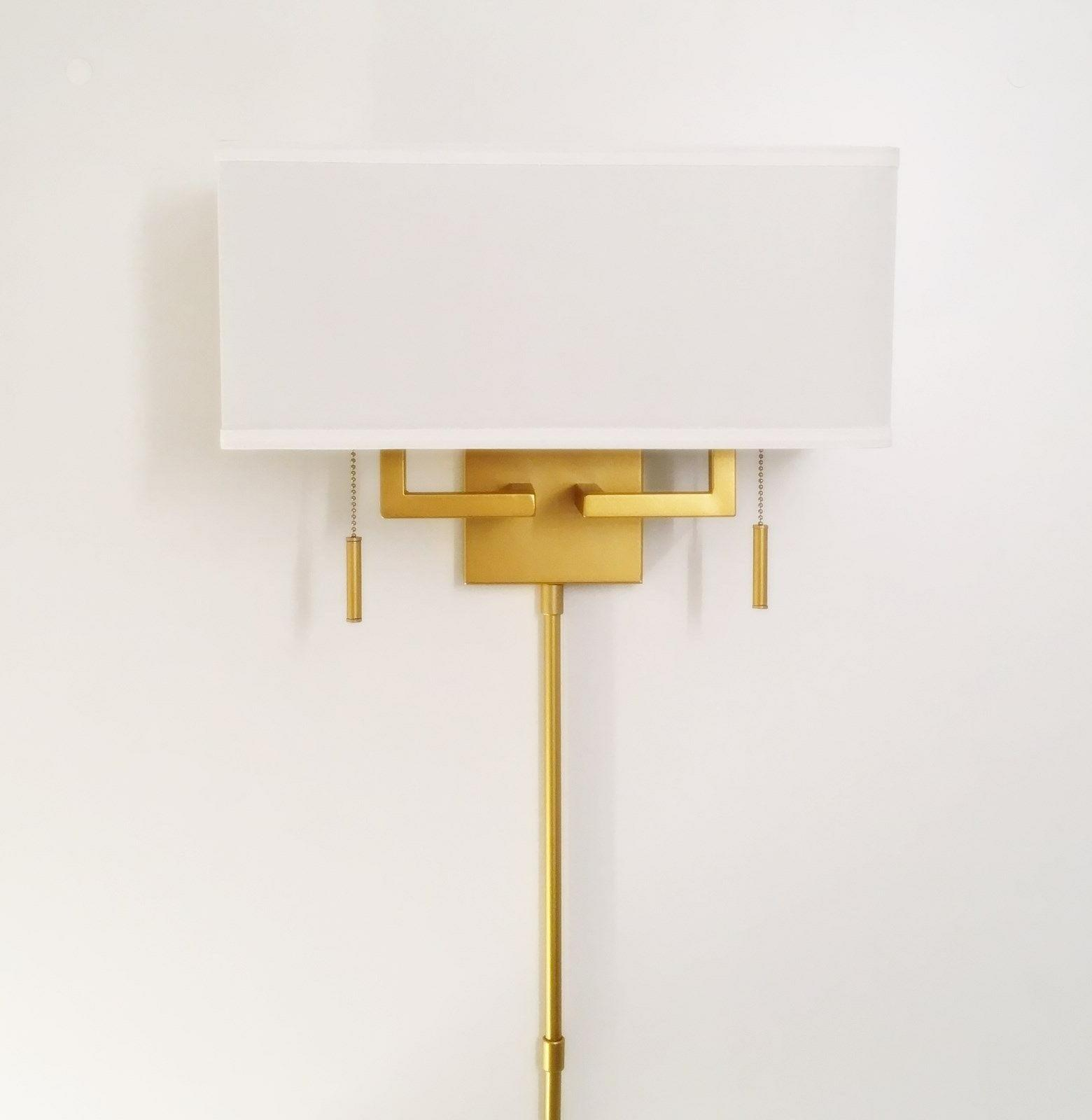 Matte Modern Wall Sconce with Rect. Shade, Hardwire