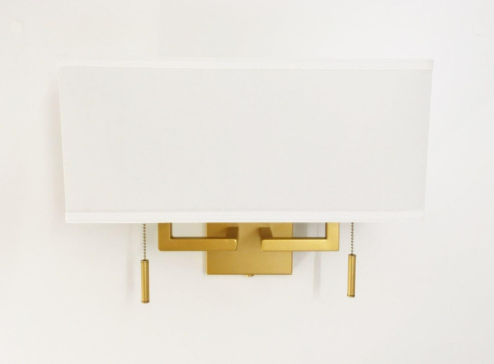 Matte Modern Sconce with Rect. Shade, Hardwire