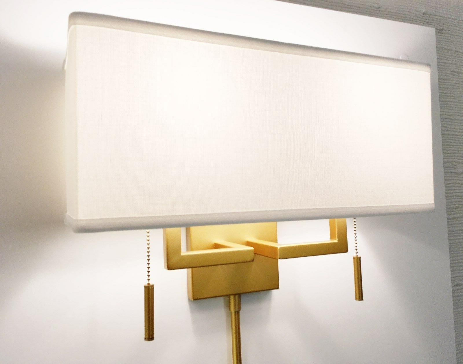 Matte Ant.Gold Sconce Rect. Shade,