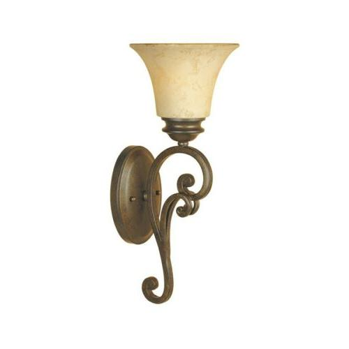 mendocino wall sconce forged sienna 81801 fsn