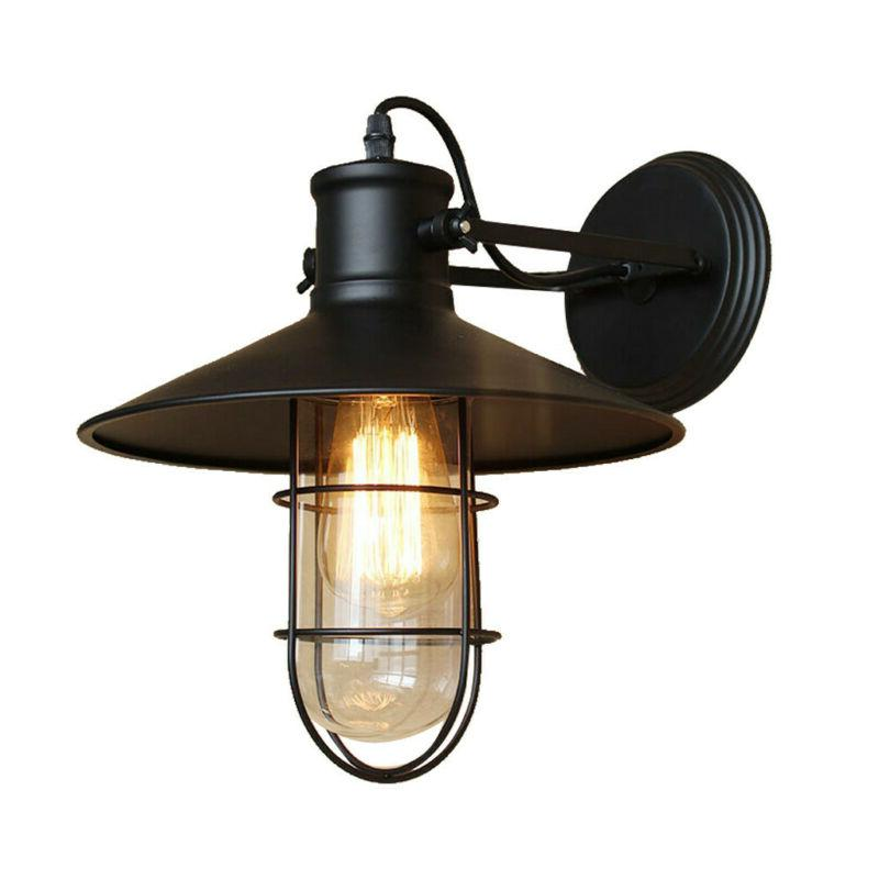Vintage Industrial Metal Wall Sconce Wall Lamp Indoor And Ou