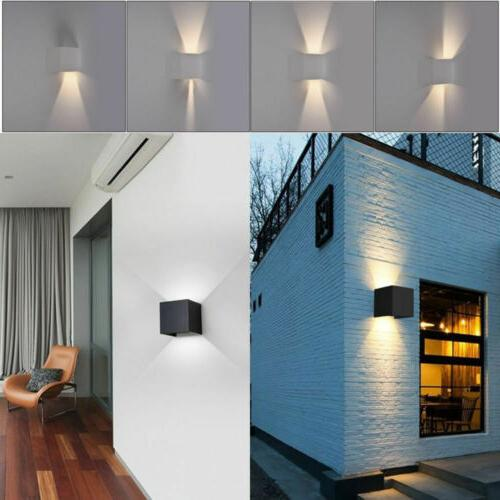 12W Cube Indoor Outdoor Sconce Lighting