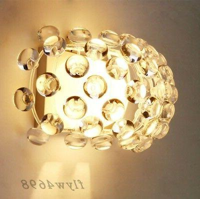 Modern Acrylic Ball Lampshade Wall Light Aisle