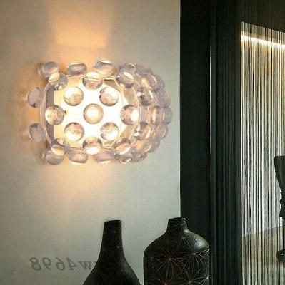 modern acrylic ball lampshade wall lamp light
