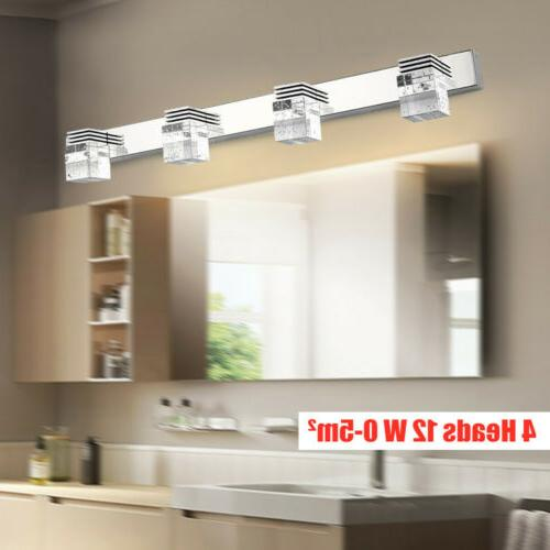 LED Crystal Light Cabinet Mirror Front Lamp Bathroom Wall Sc