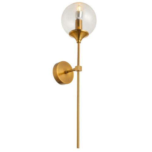 Industrial Glass Globe Shade Wall Sconce 1-Light Bedroom Cor
