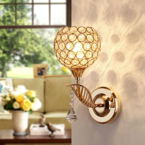 Modern LED Crystal Fixture Sconce Lamp Wall
