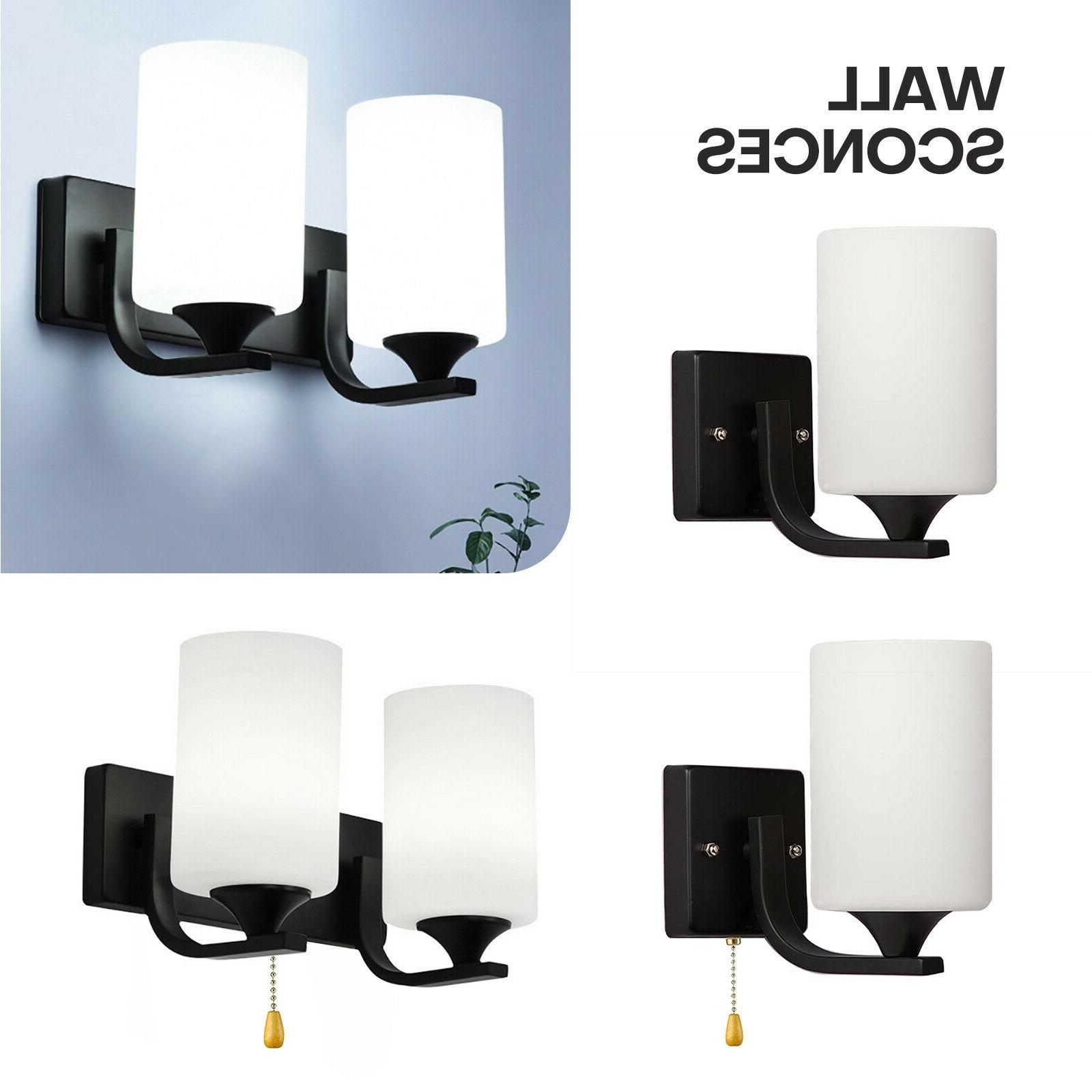 modern glass led light wall sconce lamp
