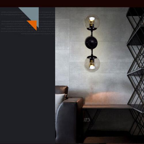 Modern Sconce Double Glass Wall Bubble Lamp