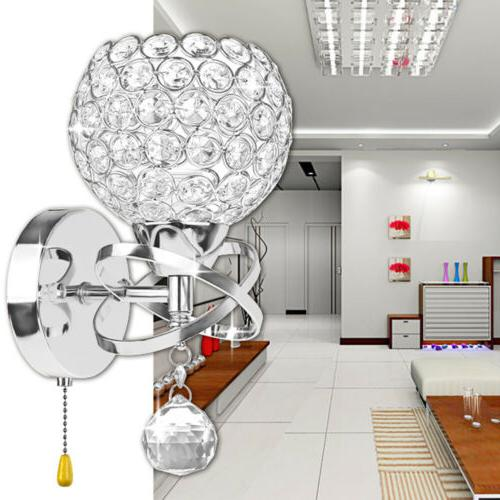 Modern LED Crystal Lamp Mirror New