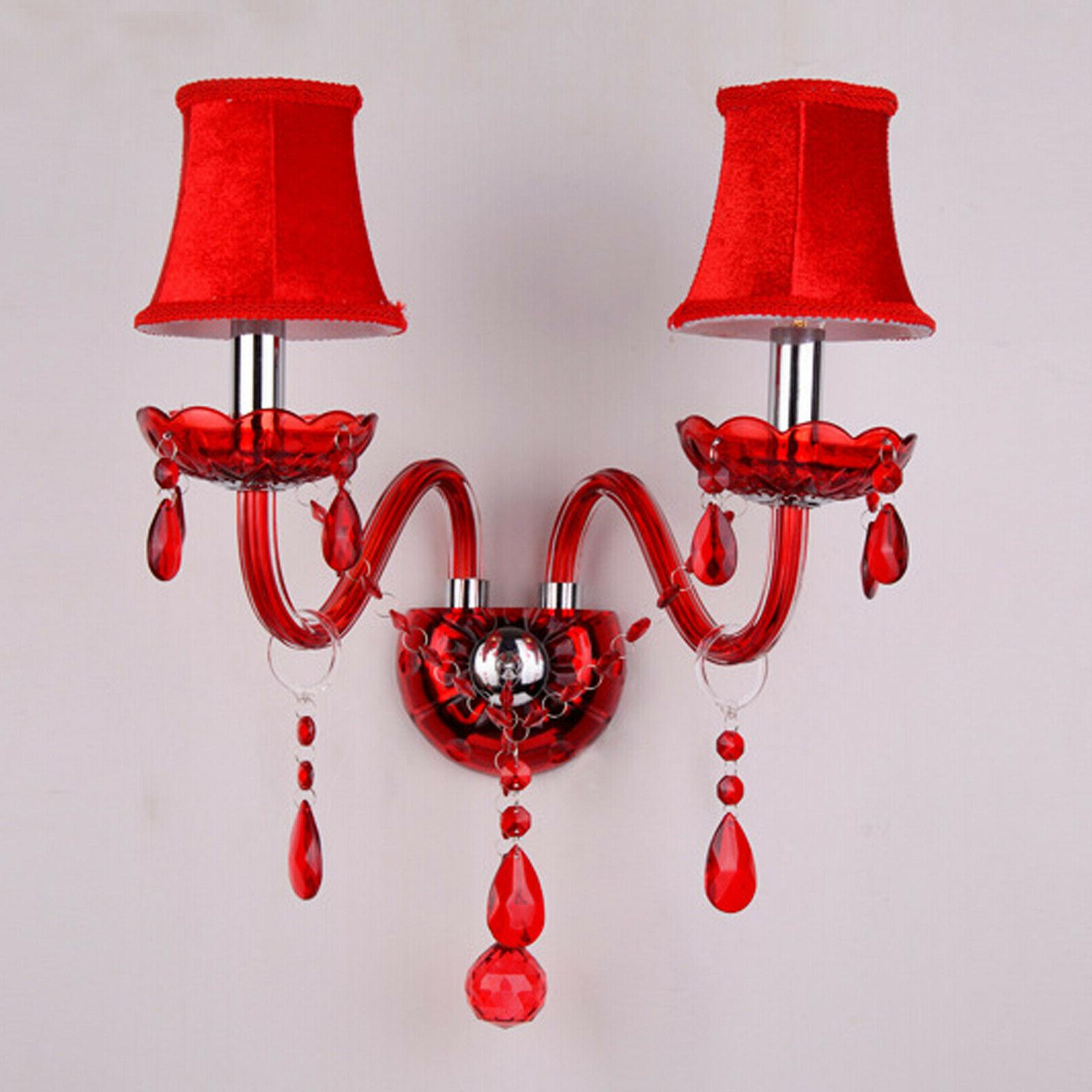 modern led crystal wall light lamp hallway
