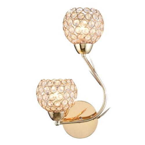 Modern Crystal Lamp Sconce Bulb Bedroom Lighting
