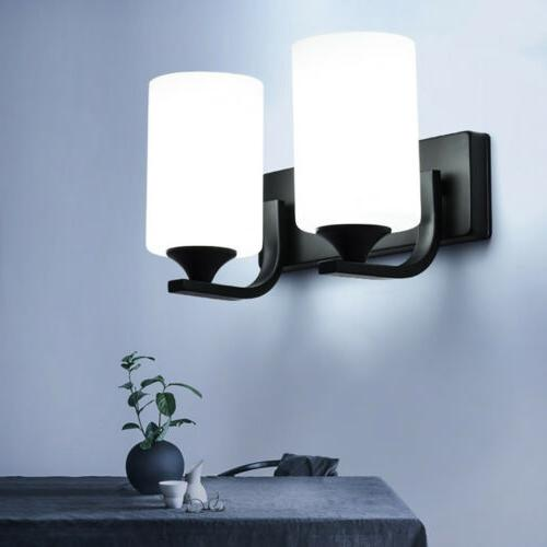 Contemporary LED Glass Wall Sconce Lamp Bedroom Light Lighting