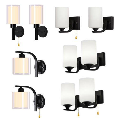 modern led glass wall sconce lamp bedroom
