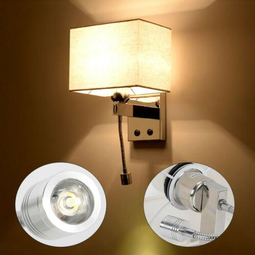 Modern LED Reading Wall Lamp Wall Light Bedside Bedroom Hote