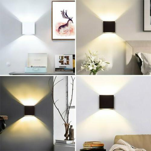 Modern LED COB Wall Light Waterproof Exterior Up Down Cube S