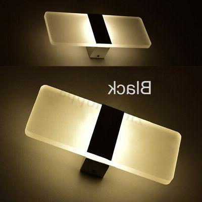 Modern LED Up Down Cube Bedroom Fixture
