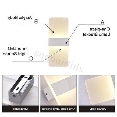 Modern LED Wall Light Up Down Indoor Bedroom Sconce Fixture