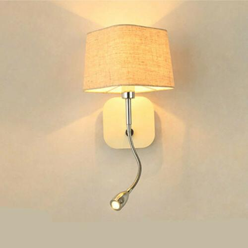 modern led wall sconce light shade bedside