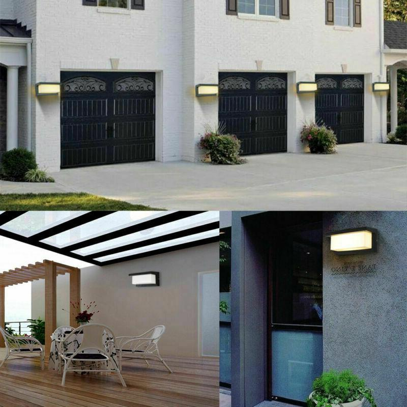Modern Square LED Exterior Corner Wall US