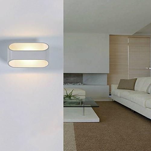 Lightess Light LED Wall Sconces Up Metal Rectangle Light,