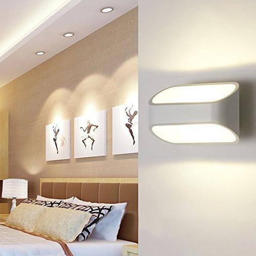 Lightess Modern Light Up Metal Light, Warm White 5W